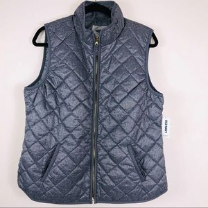NWT Grey Old Navy Quilted Vest Size Large